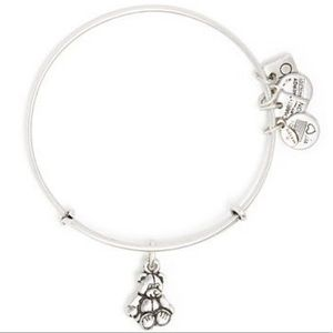 Alex and Ani Little Brown Bear Silver Bracelet